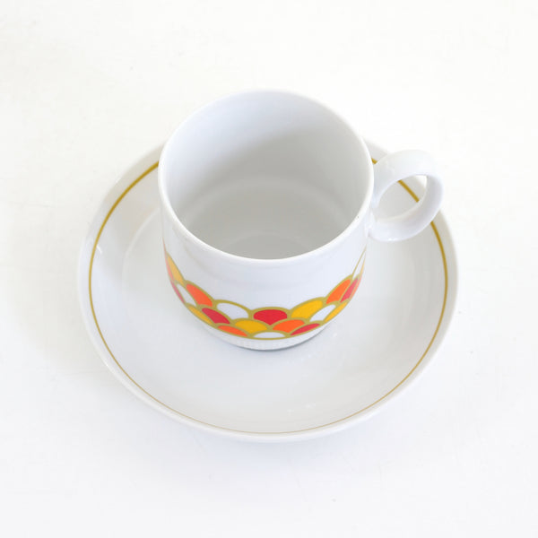 Mid Century Georges Briard 'Carousel' Cup & Saucer Set
