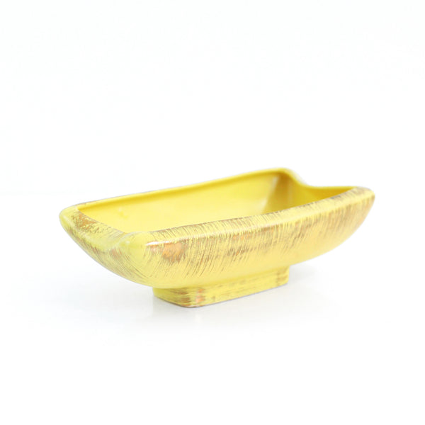 SOLD - Vintage Yellow & Gold 1963 Inarco 'Sun-Glo' Planter