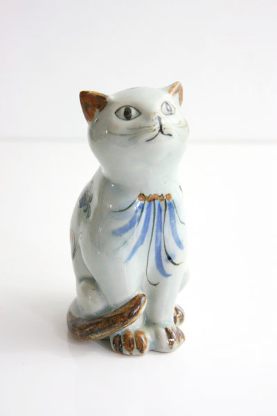 Mid Century Tonala Cat Figurine / Ken Edwards El Palomar Folk Art Cat