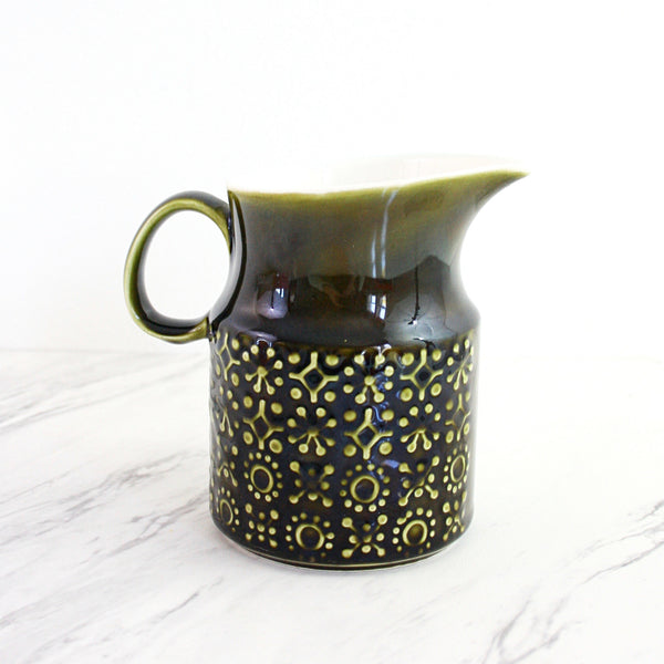 SOLD - Mid Century Celtic Ceramics Pitcher / Kilrush Pottery Connemara Creamer