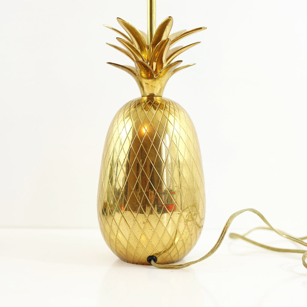 ... SOLD   XL Vintage Brass Pineapple Table Lamp ...