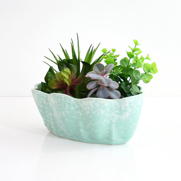 SOLD - Vintage Mint Green USA Pottery Planter