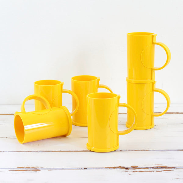 SOLD - Mid Century Mod Mugs by Gunnar Cyren for Dansk