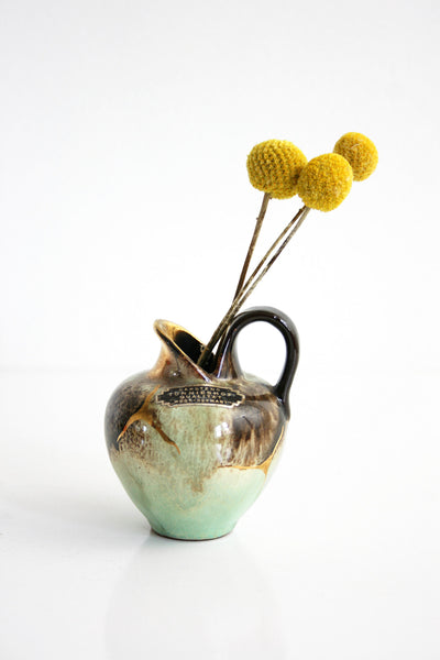 SOLD - Mid Century Modern Carstens Tonnieshof Bud Vase / Small West German Pottery Pitcher