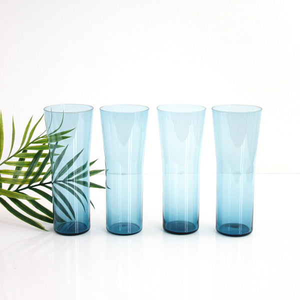 Mid Century Hourglass Tumblers Inspired by Kaj Franck for Nuutajarvi