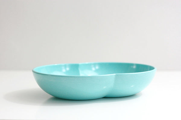 SOLD - Mid Century Modern Aqua Blue Branchell Melmac Serving Bowl