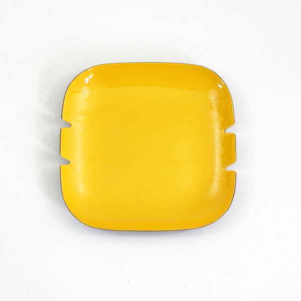 SOLD - Mid Century Modern Square Enamel Ashtray