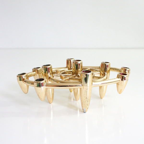 SOLD - Mid Century Modern Gold Tiny Taper Candle Holder