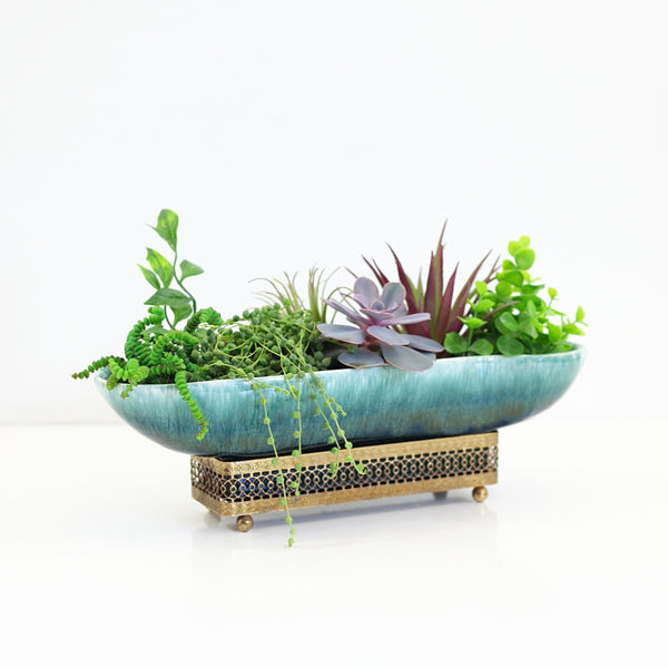 SOLD - Mid Century Modern Planter with Stand