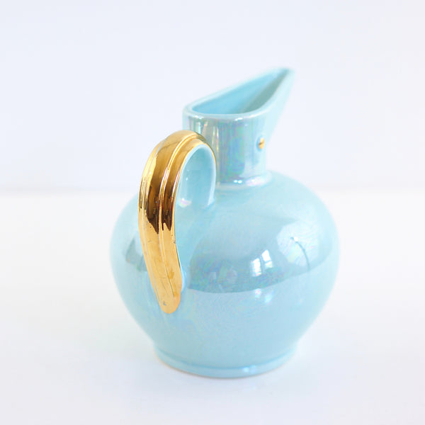 SOLD - Mid Century Modern Lusterware Bird Pitcher