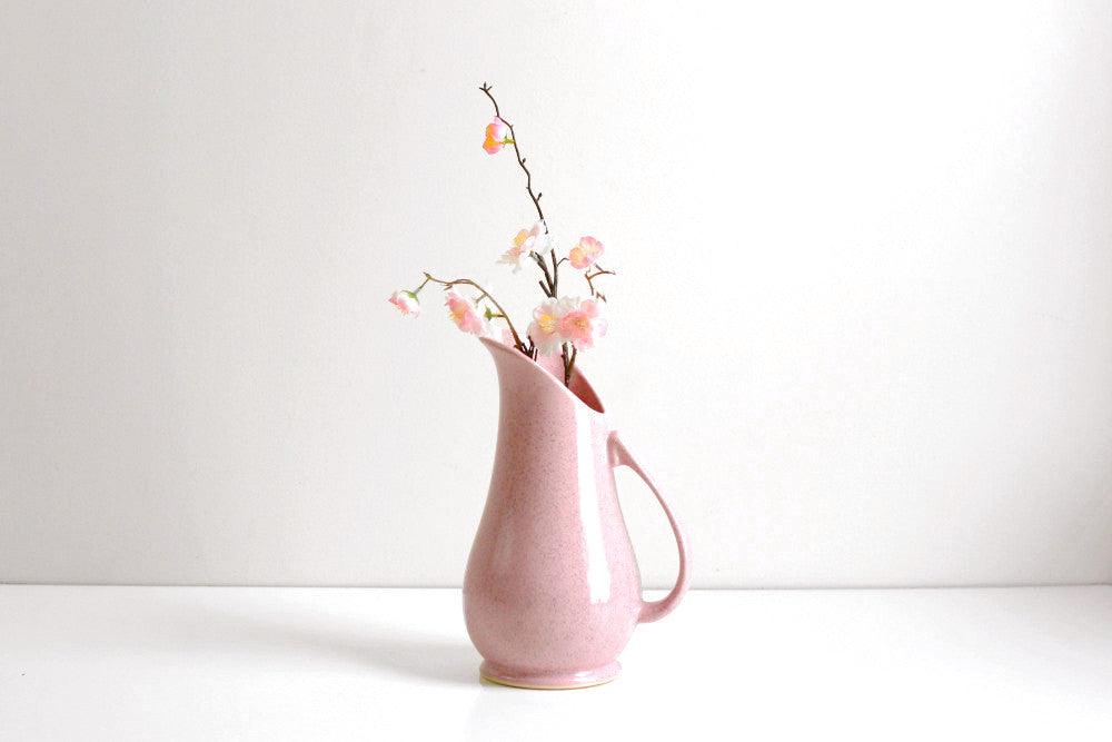 Sold Mid Century Modern Pink Ceramic Brush Mccoy Pitcher Wise
