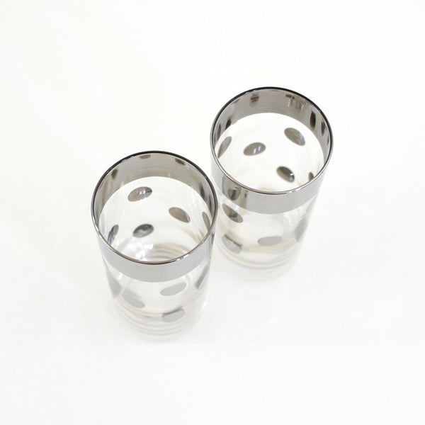 SOLD - Mid Century Silver Polka Dot Glasses