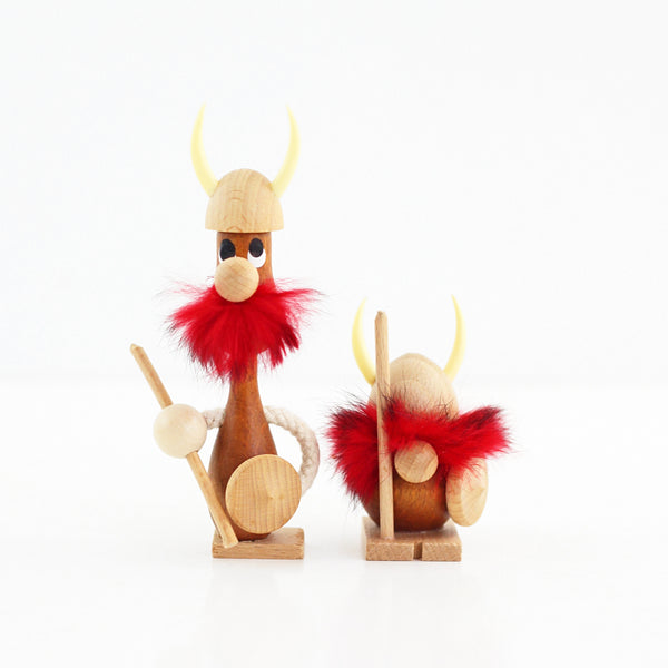 SOLD - Danish Modern Wood Viking Figurines