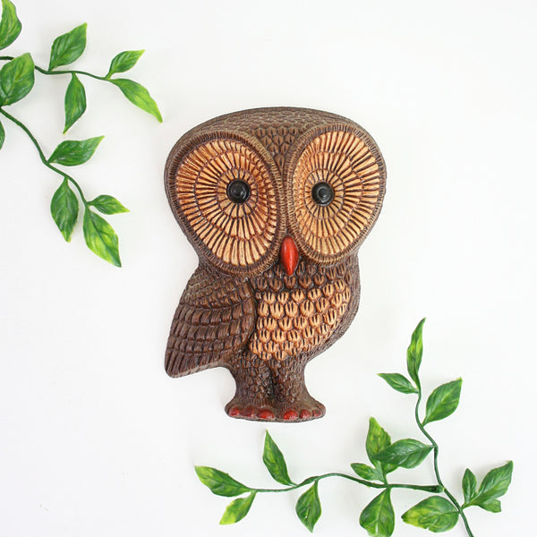 SOLD - Vintage Woodland Owls Wall Decor