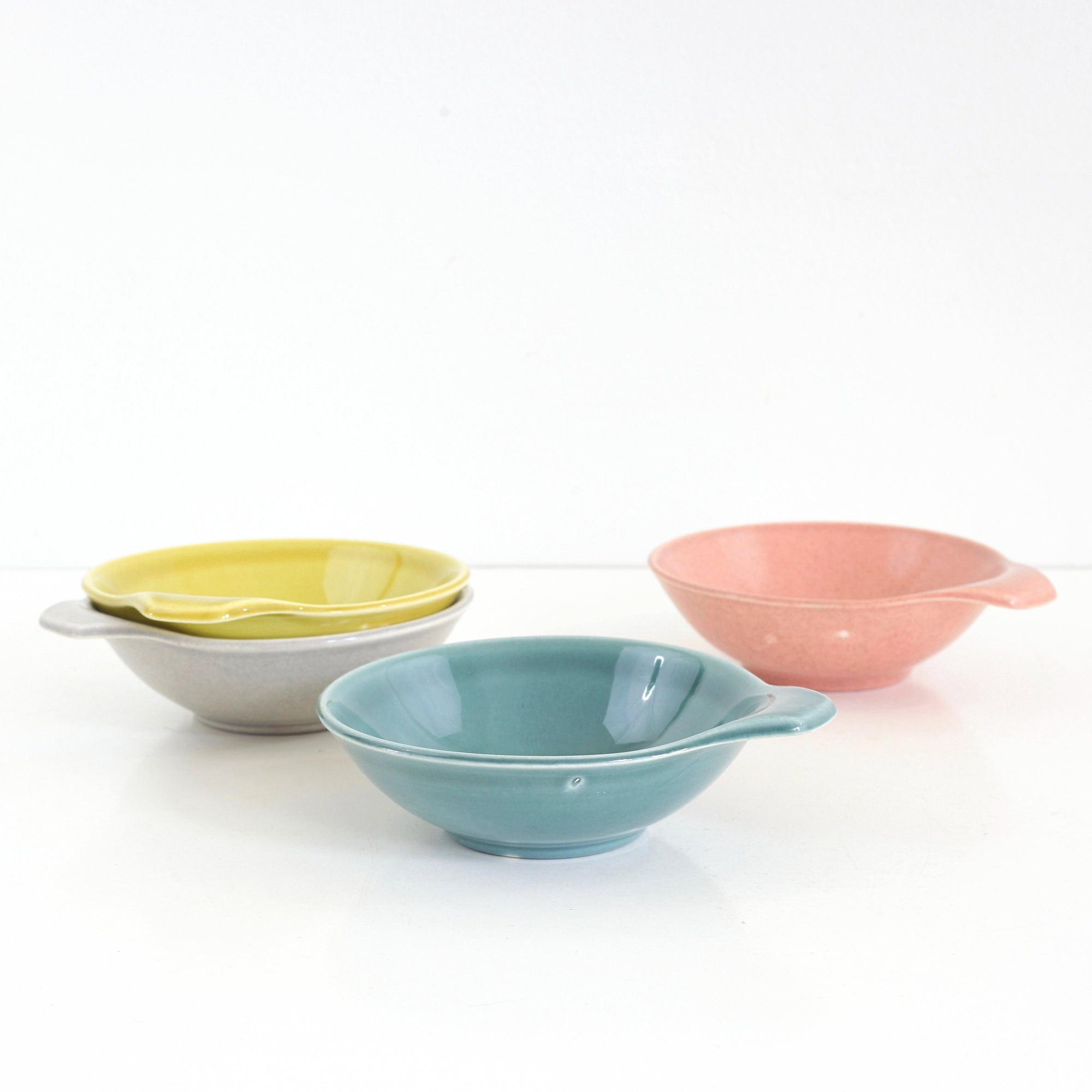 Mid Century American Modern Lug Handle Bowls by Russel Wright