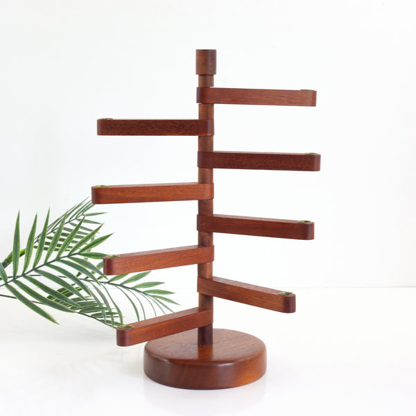 Danish Modern Teak Wood Delavan Designs Tiered Candle Holder
