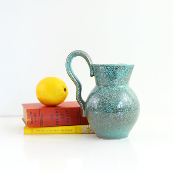 SOLD - Mid Century Modern German Pottery Pitcher by Torkis Jung