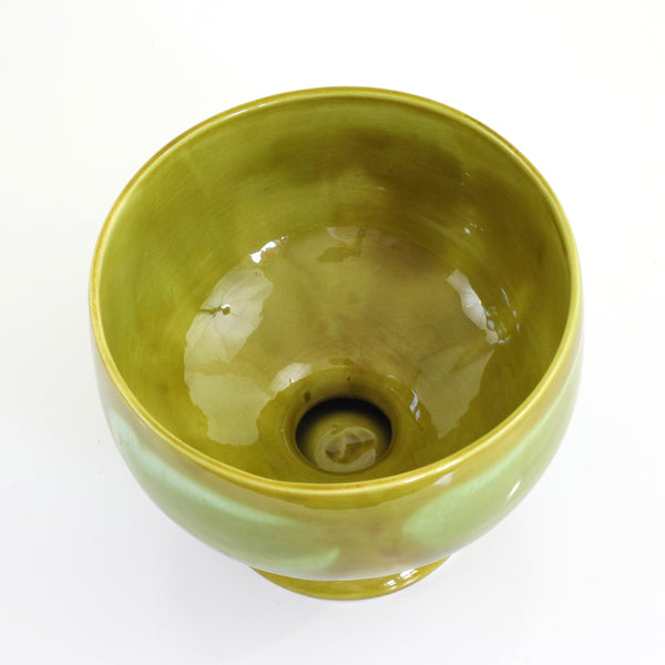 SOLD - Mid Century Modern Chartreuse Pedestal Planter
