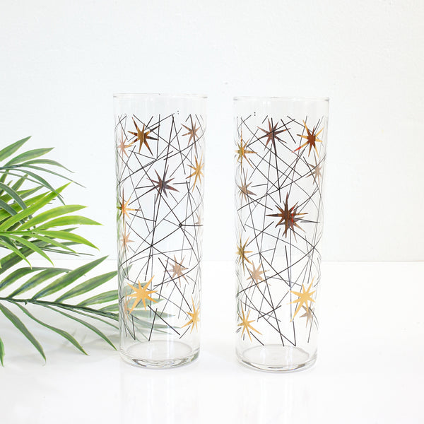 SOLD - Mid Century Modern Libbey Atomic Starburst Glasses