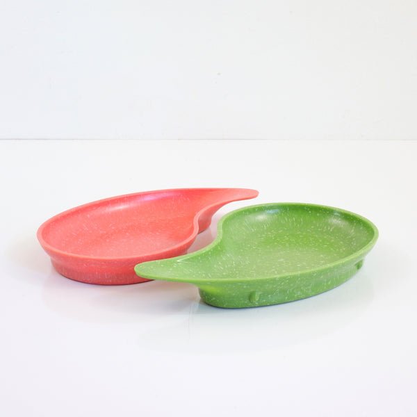 SOLD - Mid Century West Bend Melamine Confetti Snack Trays