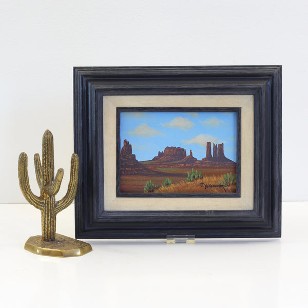 Vintage Southwestern Landscape Painting by Jimmy Yellowhair