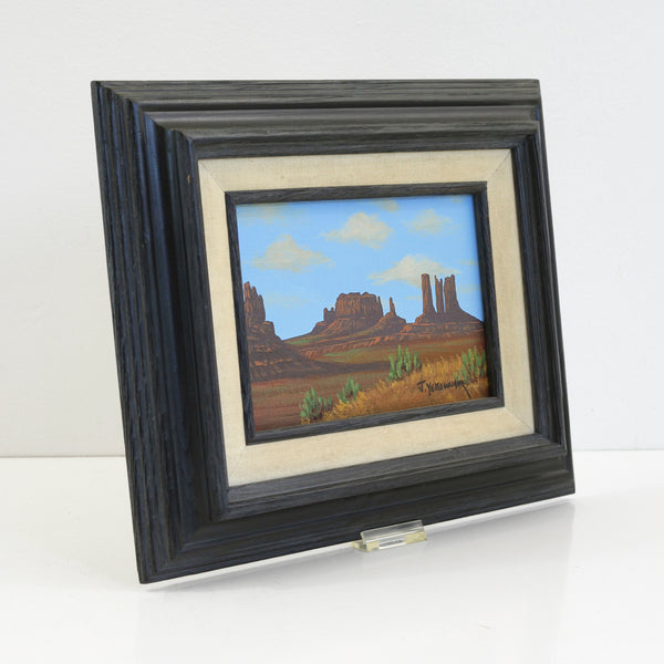 SOLD - Vintage Southwestern Landscape Painting by Jimmy Yellowhair