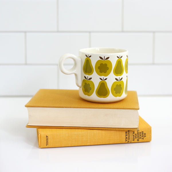 Orla Kiely for Target Green Apples & Pears Stoneware Mug