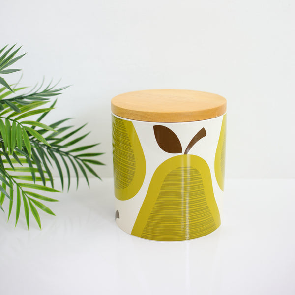 Orla Kiely for Target Green Pears Large Stoneware Canister