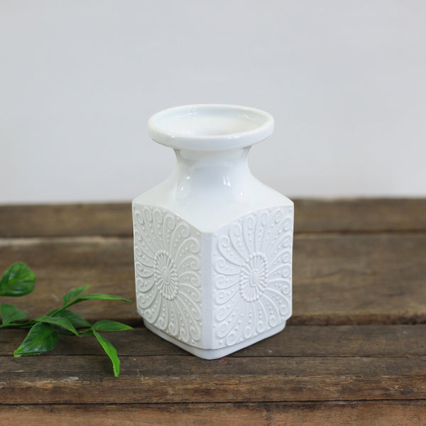 Mid Century White Bisque Vase by Royal KPM Germany