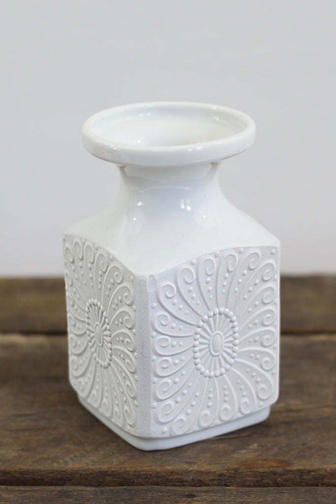 Mid Century White Bisque Vase By Royal Kpm Germany Wise Apple Vintage