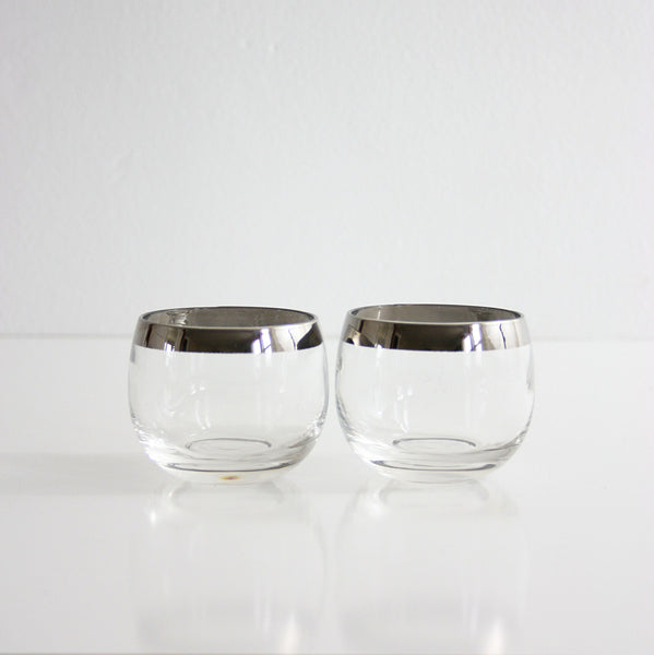 SOLD - Set of Six Mid Century Modern Dorothy Thorpe Roly Poly Glasses