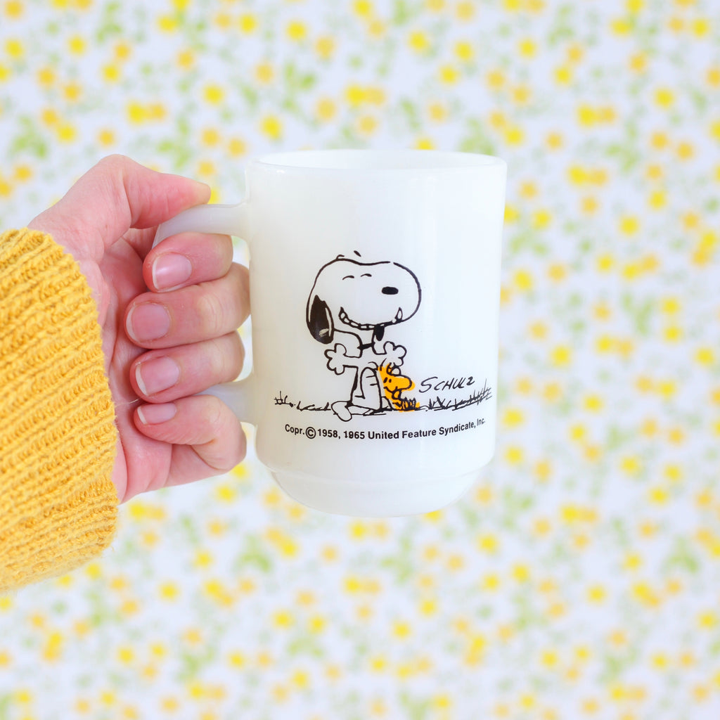 SOLD - Vintage 1965 Peanuts Mug - This Has Been a Good Day!