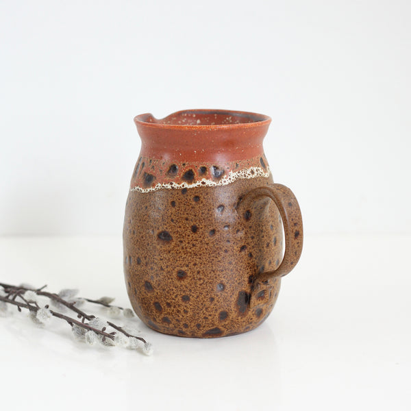 SOLD - Vintage 1972 Studio Pottery Pitcher