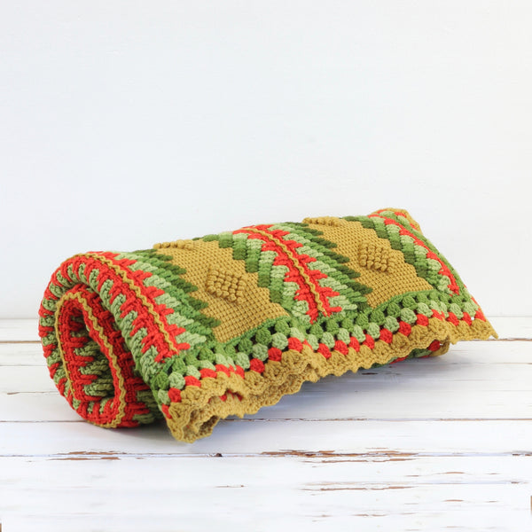 Vintage Geometric Afghan Throw Blanket