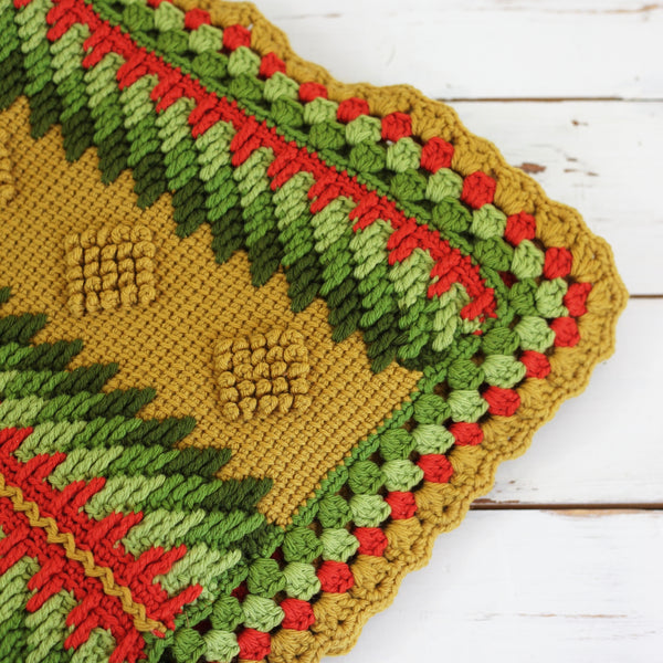 SOLD - Vintage Geometric Afghan Throw Blanket