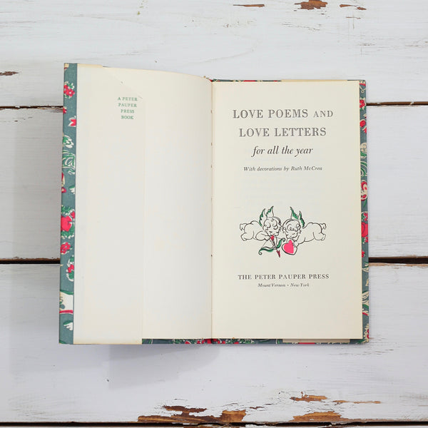 SOLD - Love Poems & Love Letters For All The Year Book by Peter Pauper Press