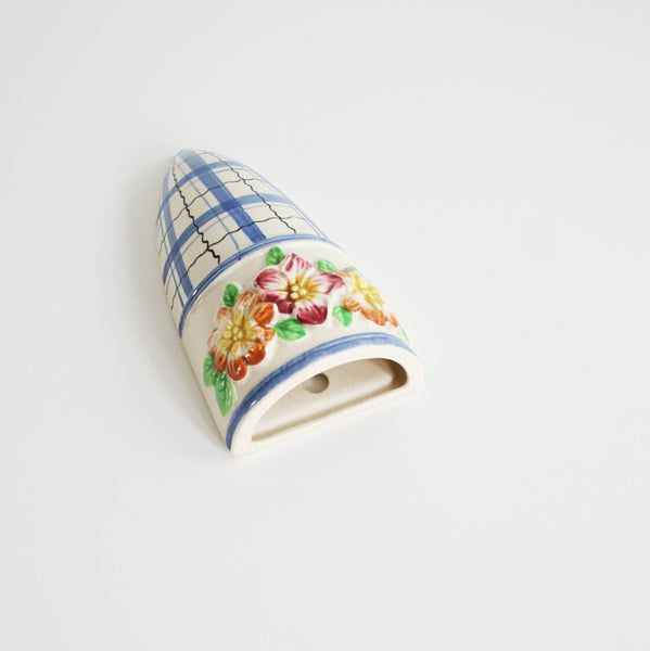 SOLD - Vintage Colorful Ceramic Flower Wall Pocket from SS Japan