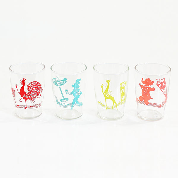Vintage Kitschy Animal Cocktail Glasses