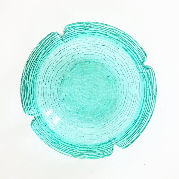 SOLD - Large Mid Century Anchor Hocking Aquamarine Soreno Ashtray