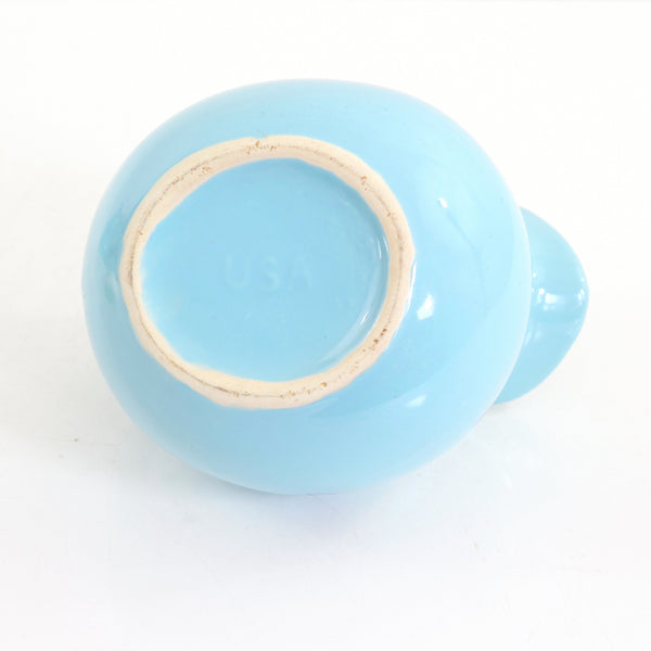 SOLD - Mid Century Aqua Cronin Ceramic Ball Pitcher