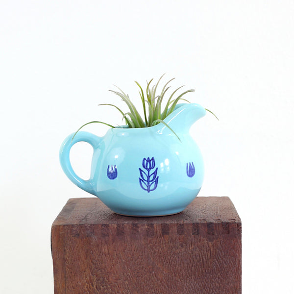 SOLD - Mid Century Aqua Cronin Cream Pitcher