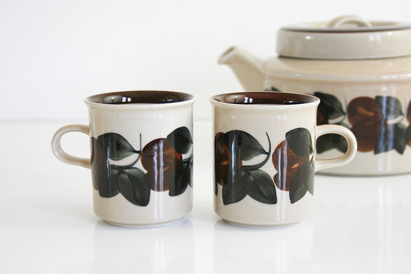 SOLD - Vintage Arabia Finland Ruija Coffee Mugs