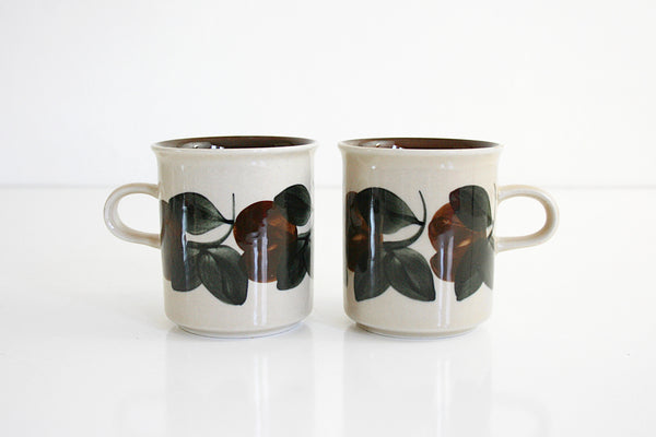 Vintage Arabia Finland Ruija Coffee Mugs