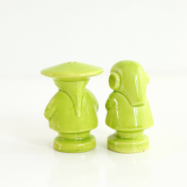 SOLD - Vintage Asian Man and Woman Salt and Pepper Shakers