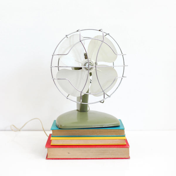 SOLD - Vintage Avocado Green Electric Fan