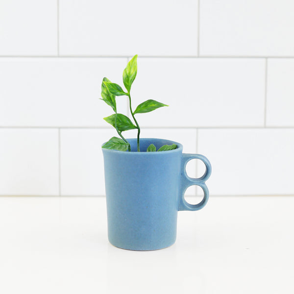 SOLD - Bennington Potters Blue Trigger Handle Mug