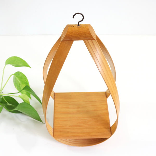 SOLD - Vintage Bentwood Teardrop Hanging Plant Holder