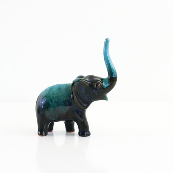 SOLD - Vintage Blue Mountain Pottery Elephant Figurine