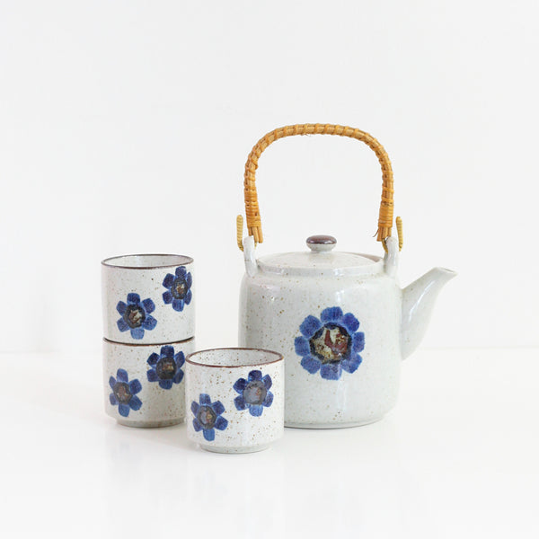 SOLD - Vintage Asian Stoneware Tea Set
