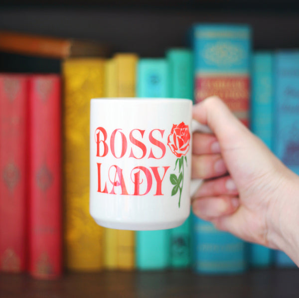 SOLD - Vintage Boss Lady Mug